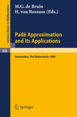 Padé Approximation and its Applications Amsterdam 1980