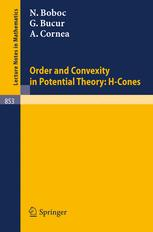 Order and Convexity in Potential Theory: H-Cones