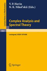 Complex Analysis and Spectral Theory