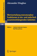 Wertverteilung meromorpher Funktionen in ein- und mehrfach zusammenhängenden Gebieten