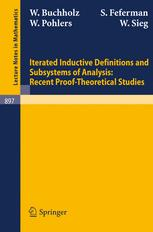 Iterated Inductive Definitions and Subsystems of Analysis: Recent Proof-Theoretical Studies