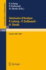 Séminaire d'Analyse P.Lelong - P.Dolbeault - H. Skoda