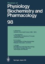 Reviews of Physiology, Biochemistry and Pharmacology, Volume 98