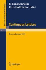 Continuous Lattices