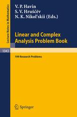 Linear and Complex Analysis Problem Book