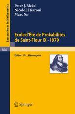 Ecole d'Eté de Probabilités de Saint-Flour IX-1979
