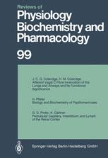Reviews of Physiology, Biochemistry and Pharmacology, Volume 99