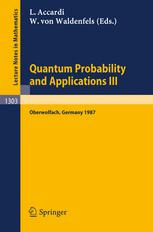 Quantum Probability and Applications III