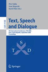 Text, Speech and Dialogue