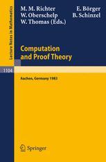 Computation and Proof Theory