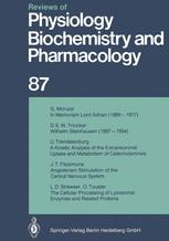 Reviews of Physiology, Biochemistry and Pharmacology, Volume 87