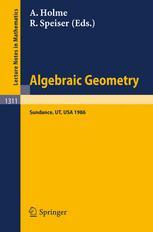 Algebraic Geometry Sundance 1986