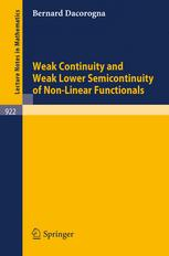 Weak Continuity and Weak Lower Semicontinuity of Non-Linear Functionals