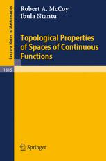 Topological Properties of Spaces of Continuous Functions