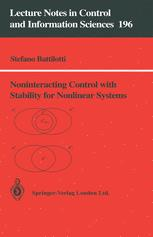 Noninterracting Control with Stability for Nonlinear Systems