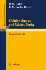 Kleinian Groups and Related Topics