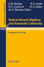 Radical Banach Algebras and Automatic Continuity