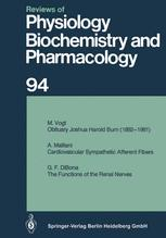 Reviews of Physiology, Biochemistry and Pharmacology, Volume 94