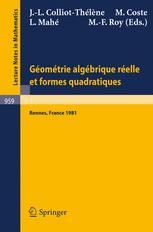 Géométrie Algébrique Réelle et Formes Quadratiques