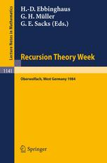 Recursion Theory Week