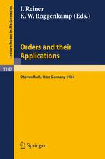 Orders and their Applications
