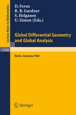 Global Differential Geometry and Global Analysis 1984