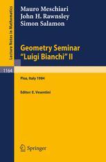 "Geometry Seminar ""Luigi Bianchi"" II - 1984"