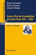 École d'Été de Probabilités de Saint Flour XIV - 1984