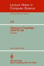Advances in Cryptology — CRYPTO '85 Proceedings