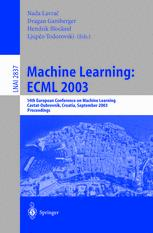 Machine Learning: ECML 2003