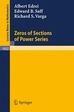 Zeros of Sections of Power Series