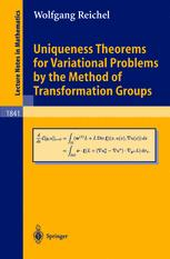 Uniqueness Theorems for Variational Problems by the Method of Transformation Groups