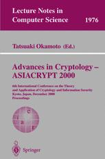 Advances in Cryptology — ASIACRYPT 2000