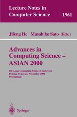 Advances in Computing Science — ASIAN 2000