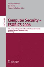 Computer Security – ESORICS 2006