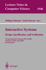 Interactive Systems Design, Specification, and Verification