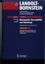 Diamagnetic Susceptibility and Magnetic Anisotropy of Organic Compounds