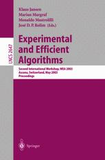Experimental and Efficient Algorithms