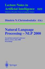 Natural Language Processing — NLP 2000