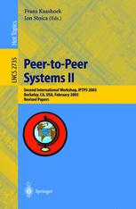 Peer-to-Peer Systems II
