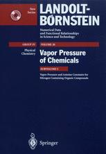 Vapor Pressure and Antoine Constants for Nitrogen Containing Organic Compounds
