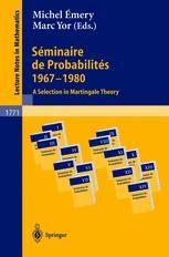 Séminaire de probabilités 1967 - 1980