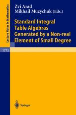 Standard Integral Table Algebras Generated by Non-real Element of Small Degree