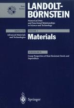 Creep Properties of Heat Resistant Steels and Superalloys