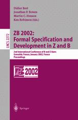 ZB 2002:Formal Specification and Development in Z and B