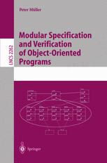 Modular Specification and Verification of Object-Oriented Programs