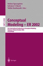 Conceptual Modeling — ER 2002