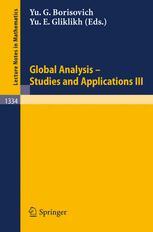 Global Analysis — Studies and Applications III