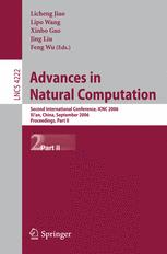 Advances in Natural Computation