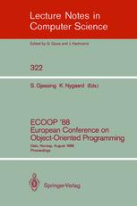 ECOOP '88 European Conference on Object-Oriented Programming